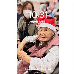 91歳の母/2020.9.1台風/姉と母と.../机/コロナに負けないのインテリア実例 - 2020-09-01 19:02:51