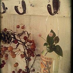 棚/キャンドゥ瓶/リメ瓶♪のインテリア実例 - 2014-02-09 22:09:32