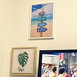 ポスターインテリア/ポスターのある部屋/ニトリの絵画/リビングのインテリア実例 - 2019-09-20 00:57:00