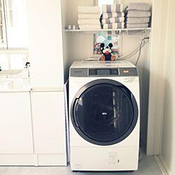 バス/トイレ/洗濯機上の棚/ホワイトインテリア/シンプルが好き/モノトーンにしたい!...などのインテリア実例 - 2017-05-29 17:04:54