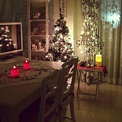部屋全体/クリスマスディスプレイ/クリスマスツリー/インチキキャンドル/フェアリーライツ...などのインテリア実例 - 2016-12-10 18:34:25