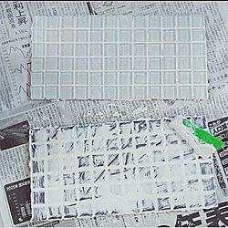 壁/天井/100均/Daiso/ガラスタイル/ガラスタイルコースター...などのインテリア実例 - 2021-04-29 10:10:30
