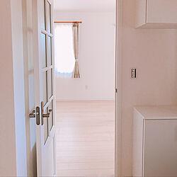 玄関/入り口/ドア/パールホワイト/ウッドワン/明るい家のインテリア実例 - 2018-09-06 07:36:55