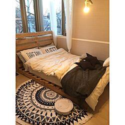 ベッド周り/パレット/パレットベッド/海辺を感じたい/海外インテリアに憧れる...などのインテリア実例 - 2016-02-10 22:14:44
