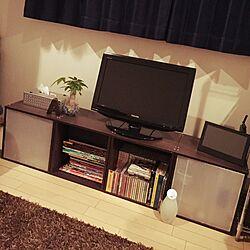 部屋全体/キューブボックス/TV周りをどうにかしたい/観葉植物のインテリア実例 - 2015-01-30 20:00:33