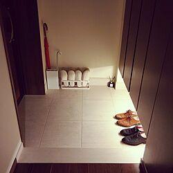 玄関/入り口/無印良品/スリッパ収納のインテリア実例 - 2017-05-21 22:47:00