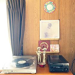 レコード/茶系/男っぽいけどかわいい部屋/レコードのある生活/レトロ...などのインテリア実例 - 2020-04-29 13:57:52