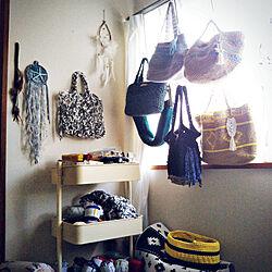 ベッド周り/これさえあれば、わたしの部屋/編み編み♡/かぎ針編み♡/Tシャツヤーン...などのインテリア実例 - 2018-07-18 18:14:17
