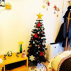 クリスマスツリー150cm/クリスマスディスプレイ/大東建託 賃貸/狭いけど諦めない!/狭いけど楽しみたい!...などのインテリア実例 - 2018-12-25 16:51:43