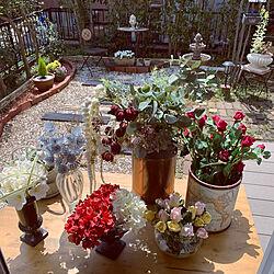 フェイクグリーン/松ぼっくり/紫陽花/薔薇/リサイクルショップ...などのインテリア実例 - 2021-04-03 12:25:30
