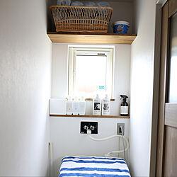 洗濯機まわり/洗濯機上の棚/洗濯機周り/収納/暮らしの道具...などのインテリア実例 - 2019-06-23 21:30:47