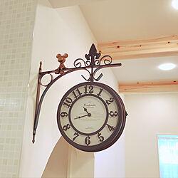 時計/隠れミッキー/初投稿/ナチュラル/カフェ風...などのインテリア実例 - 2019-12-19 11:38:59