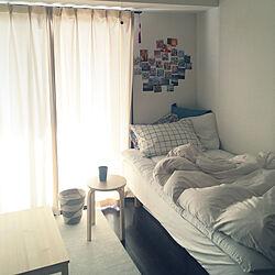 ベッド周り/無印良品/一人暮らし/IKEAのインテリア実例 - 2018-03-04 10:42:41