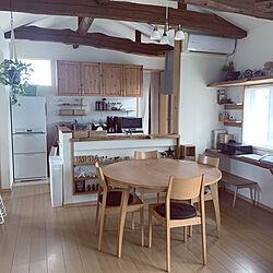 キッチン/ダイニングテーブル/二世帯住宅/グリーンのある暮らし/二世帯住宅の二階...などのインテリア実例 - 2020-04-28 09:09:08