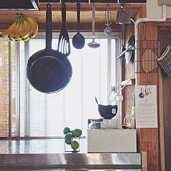 キッチン/無印良品/古道具/中古住宅/中古リフォームのインテリア実例 - 2016-11-20 22:36:51