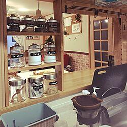 キッチン/DIY/セリア/ダイソー/cafe風のインテリア実例 - 2016-09-18 17:39:24