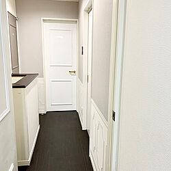 フレンチシック/ドアリメイク/廊下の壁/壁DIY/腰壁...などのインテリア実例 - 2020-06-21 23:18:29