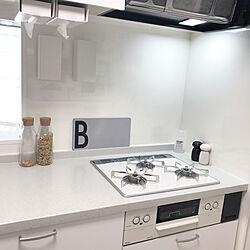 ホワイトキッチン/DESIGN LETTERS/TOWER/IKEA/モニター当選...などのインテリア実例 - 2019-07-07 21:26:13