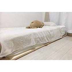 ベッド周り/すのこベッド/ベッド/シンプルライフ/シンプル...などのインテリア実例 - 2018-06-05 21:53:27