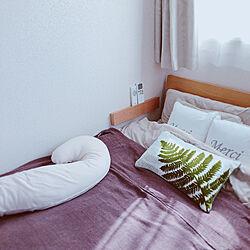 ベッド周り/& Free/抱き枕/ニトリのクッション/無印良品ベッド...などのインテリア実例 - 2018-10-22 14:43:56