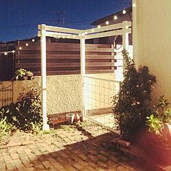 ワイヤーメッシュ/門/ソーラーライト/パーゴラ/ガーデンライトアップ...などのインテリア実例 - 2021-05-10 05:07:45