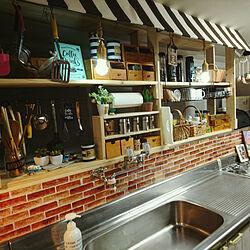 キッチン/古い家/こどもと暮らす/カフェ風インテリアを目指して/古民家...などのインテリア実例 - 2017-09-06 22:19:45