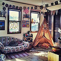 ベッド周り/IKEA/ソファ/子供部屋/ティピーテント...などのインテリア実例 - 2015-01-17 17:49:19