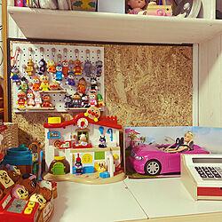 おもちゃ収納スペース/おもちゃ収納兼ディスプレー/おもちゃ収納/おもちゃ収納DIY/レジスター...などのインテリア実例 - 2021-04-30 15:20:12