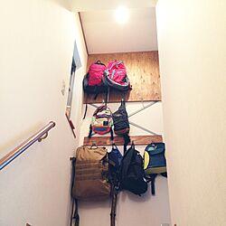 壁/天井/カバン掛け/DIY/手作り/100均のインテリア実例 - 2015-11-14 14:44:14