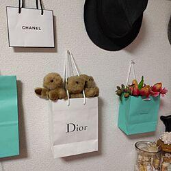 壁/天井/一人暮らし/Dior/Tiffany&co/CHANEL...などのインテリア実例 - 2017-06-11 18:53:45