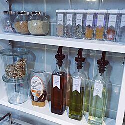 キッチン/ボトルラベル/カインズ/ラベルシール/Francfranc...などのインテリア実例 - 2016-11-29 21:35:04
