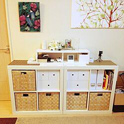 棚/IKEA BOX/DIY/北欧/手作り...などのインテリア実例 - 2014-06-18 08:30:44
