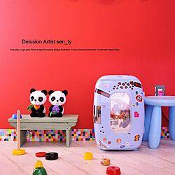 スツール/IKEA/ステッカー/冷蔵庫/ハンドメイド...などのインテリア実例 - 2020-05-05 20:52:43