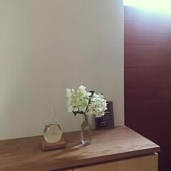 紫陽花/ナチュラル/花瓶/花のある暮らし/中庭のある家...などのインテリア実例 - 2021-06-08 23:44:16