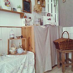 棚/カラーボックス/木の椅子/かごのインテリア実例 - 2014-02-27 15:00:59