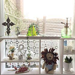 棚/窓辺の棚/窓辺のディスプレイ/窓辺のインテリア/IKEA...などのインテリア実例 - 2017-02-06 16:40:07