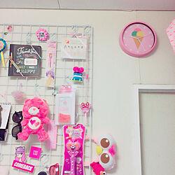 壁/天井/Pink/雑貨/DIY/ピンク...などのインテリア実例 - 2018-07-16 21:26:57