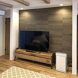 リビング/ヴィンテージオーク/エコカラットの壁/オークとウォールナットのテレビボード/無垢の床...などのインテリア実例 - 2019-01-12 10:56:59