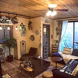 びっくりカーテン雑貨/サリュ/わが家の明かり/植物のある暮らし/好きなものを飾る...などのインテリア実例 - 2021-07-21 09:51:14