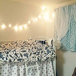 ベッド周り/IKEA/IKEA 照明/ペイズリー/ダマスク...などのインテリア実例 - 2015-10-23 22:00:53