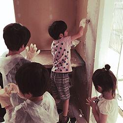 壁/天井/壁塗り/DIY/漆喰壁DIY/無垢材...などのインテリア実例 - 2018-06-22 20:53:24
