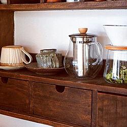 棚/お茶セット/癒しの空間/飾り棚/ニッチ...などのインテリア実例 - 2021-01-14 15:13:20