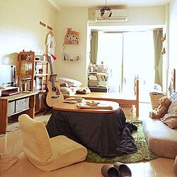 部屋全体/1K/ひとりぐらし/ギターのある部屋/一人暮らし...などのインテリア実例 - 2017-11-25 12:11:22