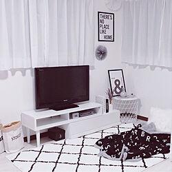 モノトーン/ニトリ/フランフラン/ホワイトインテリア/IKEA...などのインテリア実例 - 2019-05-07 18:30:56