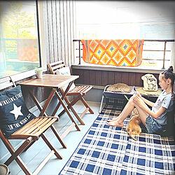 ニトリ/犬部♪/☆chula☆/ベランピング/ベランダライフ...などのインテリア実例 - 2019-05-28 19:09:56