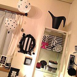 棚/IKEA/照明/白黒な部屋が見たいのインテリア実例 - 2012-09-24 00:13:39