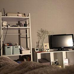 棚/狭い部屋/韓国インテリア/グレー/グリーンのある暮らし...などのインテリア実例 - 2019-02-02 01:16:42