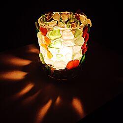 ベッド周り/キャンドルグラス/キャンドル/ログハウス/セリア...などのインテリア実例 - 2016-08-08 21:43:56