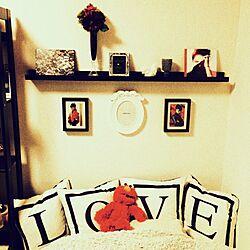 ベッド周り/IKEA/フランフラン クッションのインテリア実例 - 2014-01-28 05:13:00
