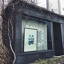 玄関/入り口/フランスアンティーク/外壁/モルタル/花のある暮らし...などのインテリア実例 - 2018-05-03 13:23:36